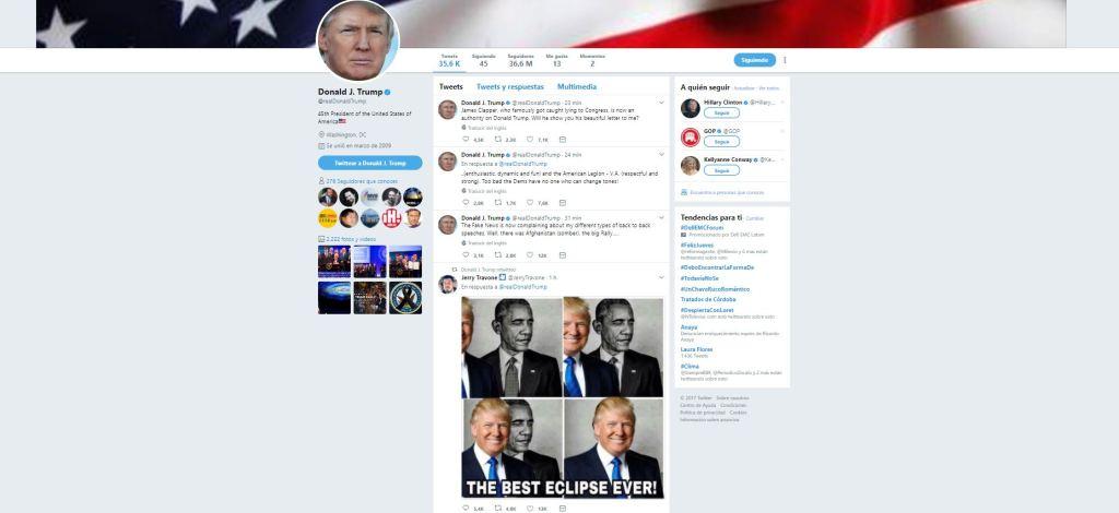 Trump retuitea meme sobre Obama