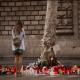 Ofrendas florales a victimas de ataque Barcelona