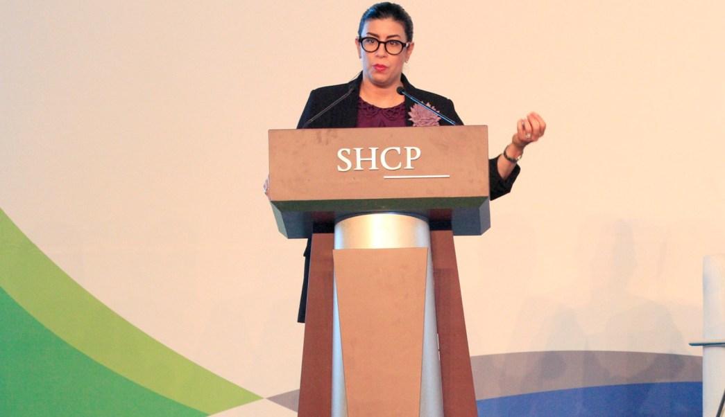 Vanessa Rubio, subsecretaria de Hacienda en conferencia