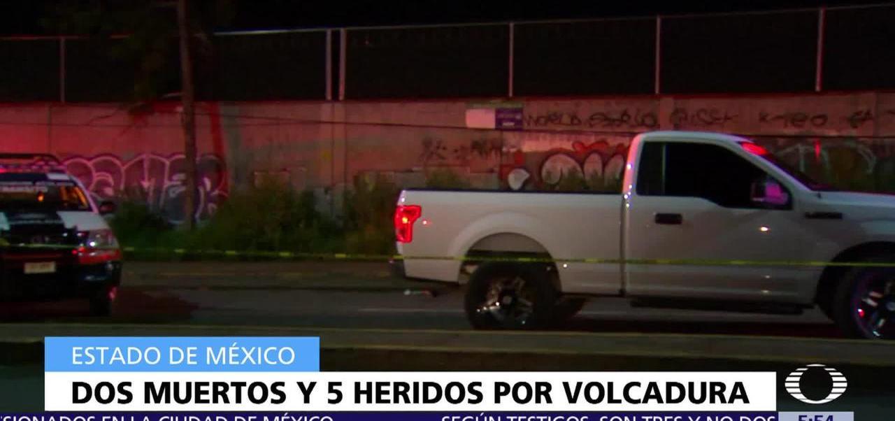 Volcadura, Chalco, muertos, heridos
