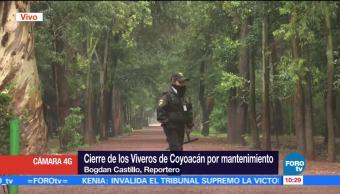 Cierran Viveros Coyoacán mantenimiento Viveros de Coyoacán