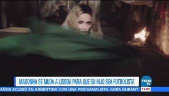 Loespectaculardeme Madonna Muda Lisboa Hijo Sea Futbolista