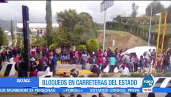 Bloqueos Carreteras Oaxaca Policía Federal Twttier