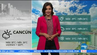 El clima para sábado con Daniela Álvarez