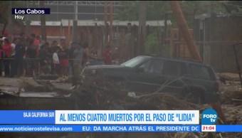 Tormenta tropical 'Lidia' deja 4 muertos en BCS