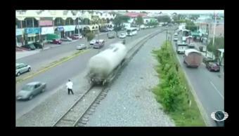 Tolva se desprende del tren en San Juan del Río, Querétaro