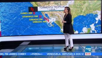 Tiempo Raquel Méndez Tormenta Tropical Lidia