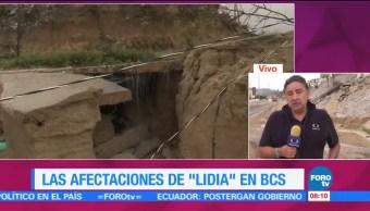 Afectaciones Lidia Autoridades Damnificados Baja California Sur