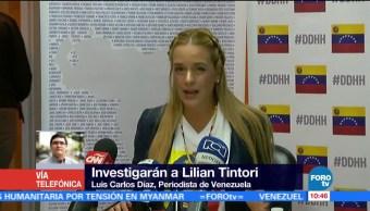 Autoridades Venezuela Investigarán Lilian Tintori Periodista De Venezuela Luis Carlos Díaz