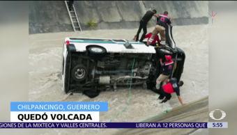 Cae, camioneta, pasajeros, Chilpancingo