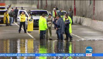 Inundación, desnivel, Mixcoac, basura