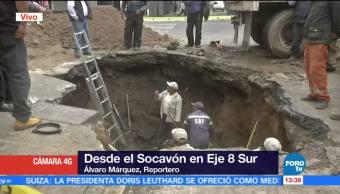 Cierran Circulación Tramo Eje 8 Popocatépetl Socavón