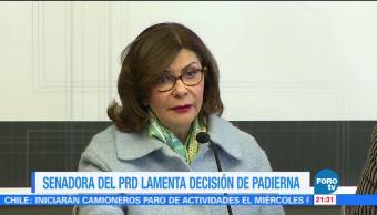 Senadora PRD lamenta decisión Dolores Padierna