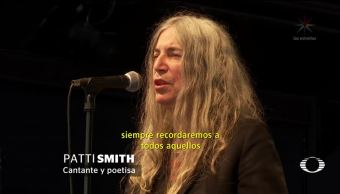 Patti Smith habla sobre desaparecidos México