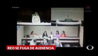 Reo se escapa durante audiencia Chihuahua