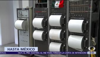 México Ondas expansivas Ensayo Nuclear