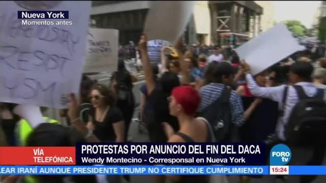 Manifestaciones Nueva York Cancelación Daca Nueva York Eu