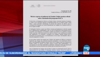 México Expresa Postura Daca Gobierno De Estados Unidos