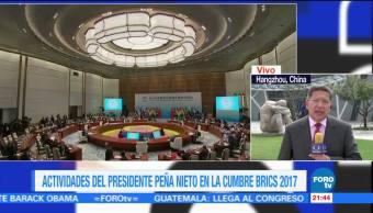 Actividades Peña Nieto Cumbre BRICS 2017