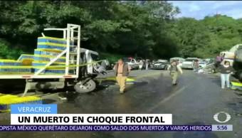 Accidente, Acajete, Veracruz, muerto