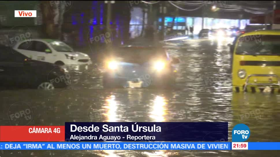 Severas inundaciones en Santa Úrsula CDMX