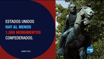 División en EU por monumentos confederados