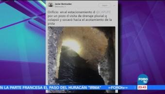 Reportan cierre parcial de la autopista México-Cuernavaca por oquedad