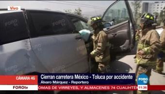 registra, choque, múltiple, México-Toluca