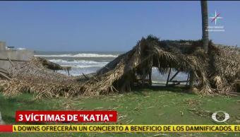 Katia cobró tres vidas en nuestro paísKatia cobró tres vidas en nuestro país