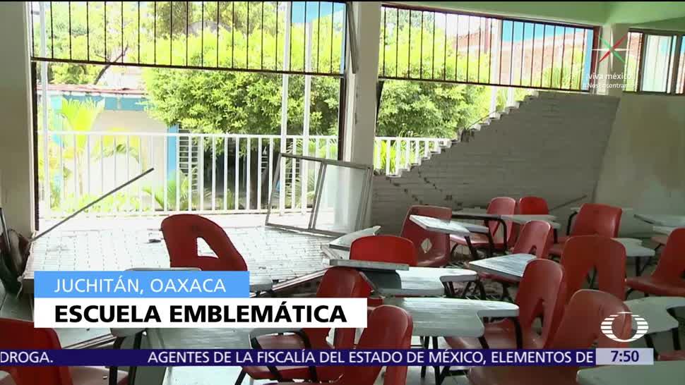 Inicia, reconstrucción, escuelas, Oaxaca