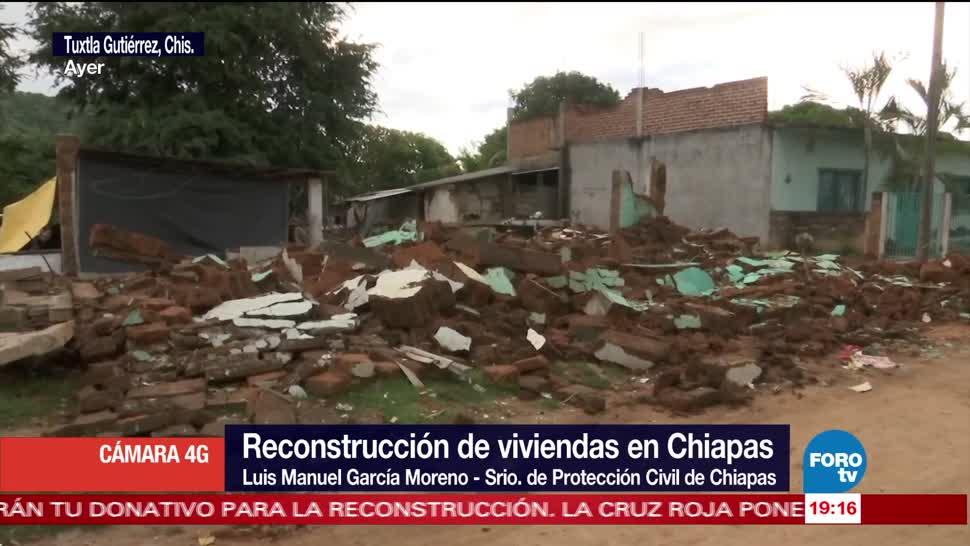 97 municipios de Chiapas entrarán en etapa de reconstrucción