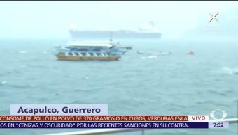 Vientos y lluvias del huracán 'Max' afectan Acapulco