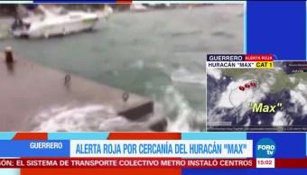 Alerta roja en Guerrero por Max