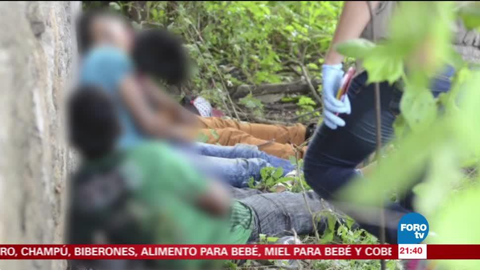 Investigan homicidio de cuatro hombres en Guerrero