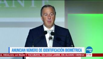 Meade anuncia número de identificación biométrica