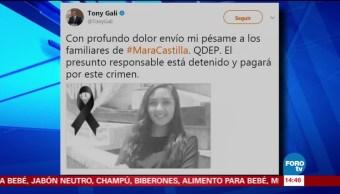 Antonio Gali envía pésame por muerte de Mara Fernanda