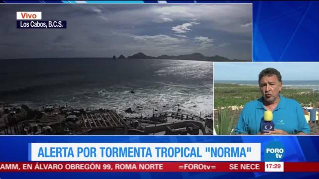 Alerta por tormenta tropical Norma en BCS