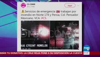 Se registra incendio en la colonia Pensador Mexicano