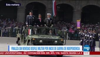 Concluye 'Sin novedad' desfile militar en la CDMX