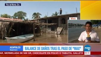 'Max' deja daños en Guerrero