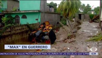 Huracán 'Max' afectó a tres mil personas en Guerrero