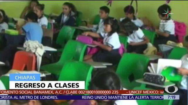 Chiapas reanuda clases, excepto en 72 planteles afectados por el sismo