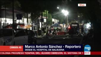 Heridos de bala frente a la delegación Cuauhtémoc son trasladados al Hospital Balbuena
