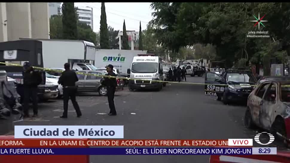 Atacan a cinco personas afuera de la delegación Cuauhtémoc, CDMX