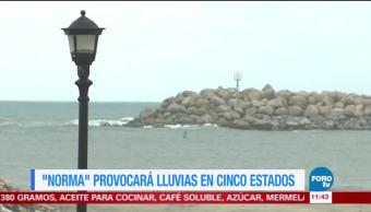 Tormenta 'Norma' provocará lluvias en cinco entidades de México