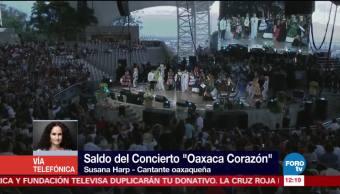 Once mil personas asistieron al concierto para apoyar a Oaxaca