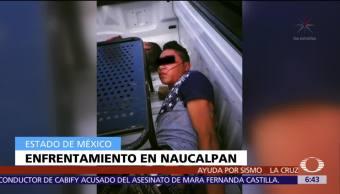 Policías municipales de Naucalpan rescatan a dos hombres que serían linchados