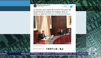 Peña Nieto encabeza reunión de Gabinete por damnificados del sismo