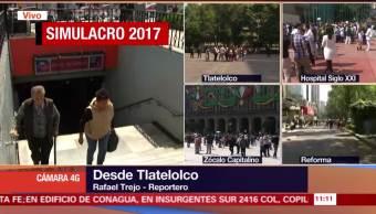 Se activa alarma por simulacro de sismo en Tlatelolco