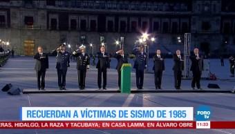 EPN encabeza homenaje por las víctimas del sismo de 1985